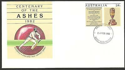 AUSTRALIA ASHES 1982 CRICKET PSE Pre Stamped FIRST DAY PMK Mount Eliza Vic