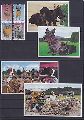 056027 Hunde Dogs St Vincent 4359-74 + Block 455/56 ** MNH Year 1998