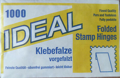 IDEAL PRINZ 1000 FOLDED STAMP HINGES Finest Quality PEELABLE Acid Free GUM