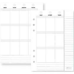 Weekly Vertical - Planner Essentials Double-Sided A5 Inserts 72/Pkg