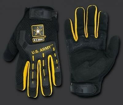 ARMY STRONG Molded Knuckle Mechanic's US Gloves Finger Handschuhe Medium