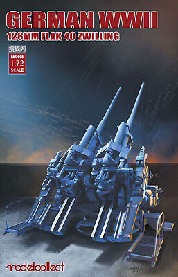 MODELCOLLECT UA72098 WWII German 128mm Flak 40 Zwilling in 1:72