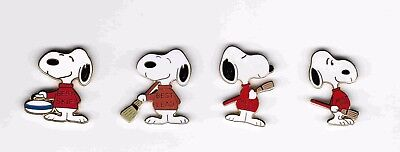 "4 "" Snoopy Curling  *best Skip/lead/2Nd/3Rd*  Pins"""