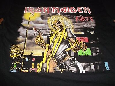 "Classic Iron Maiden Killers T Shirt L 44"""" Chest Vg+"