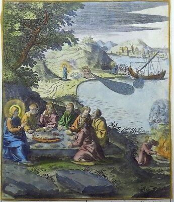 1593 NATAL Wierix Collaert Vos Galle PASSION TABLEAU Christ and St. Peter