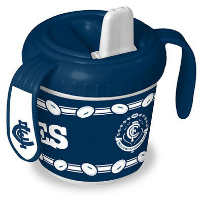 Carlton Blues AFL Training Sipper Sippy Cup With 2 Easy Grip Handles Gift