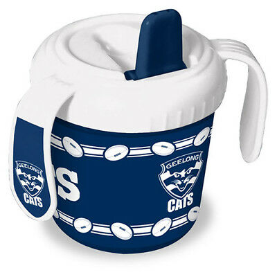 Geelong Cats AFL Training Sipper Sippy Cup With 2 Easy Grip Handles Gift