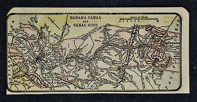 c 1910 Miniature Diary Map - Panama Canal Zone Cristobal Colon Balboa City