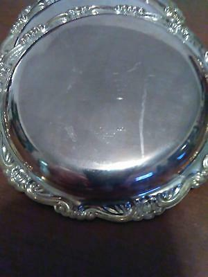 Four Piece Vintage Coaster Set - Silver Plated Ep On Steel Made In Italy