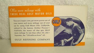 1940's Gulf Oil Company Ink Blotter NOS New Old Stock MINT
