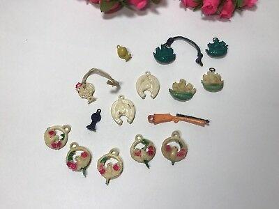 Vintage Celluloid Charms Cracker Jacks Lot ~