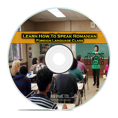 Learn How To Speak Romanian, Fluent Foreign Language Training Class, CD G89