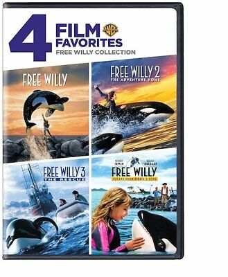 Free Willy 1 2 3 4 Collection: 4 Film Collection (DVD, 2010, 2-Disc Set) NEW