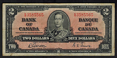 Two Dollar Currency Bill Bank note Canada # 59B