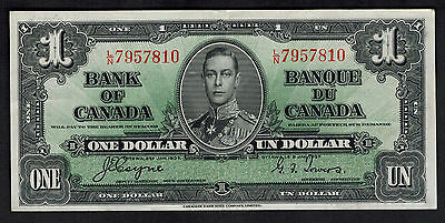 One Dollar Currency Bill Bank note Canada # 58C Bank of Canada
