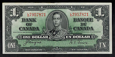 One Dollar Currency Bill Bank note Canada # 58C