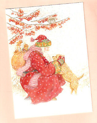 Norfolk Norwich Terrier Santa Claus Glittery Decorated Christmas Cards Box of 18