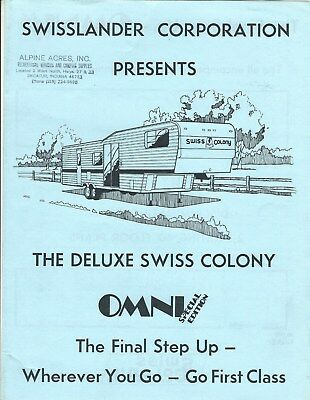 Travel Trailer Brochure - Swisslander - Omni Swiss Colony Special Edition (MH45)