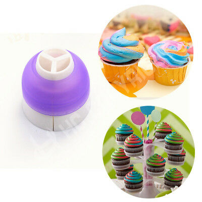 3pcs Icing Piping Bag Cake Topper Pastry Cream Nozzle Converter Decorating Tools