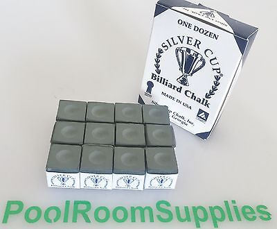 Quality USA Silver Cup Pool Snooker Billiard Cue Tip Table Chalk ARMY GREEN