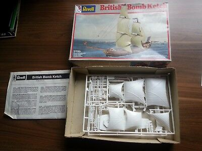Alte Modellbau Packung: Revell - British Bomb Ketch 1/150 Segelschiff