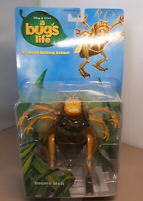 """♤ A Bugs Life Figure  Enemy Molt Approx 6"""" NEW Carded head butting action mattel"""