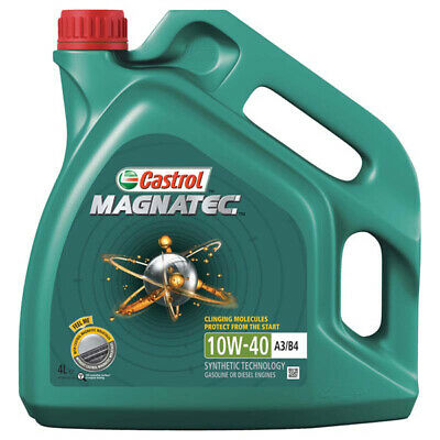 4L Car Engine Oil 4 Litres SAE 10W40 A3 B4 Part Semi Synthetic Castrol Magnatec