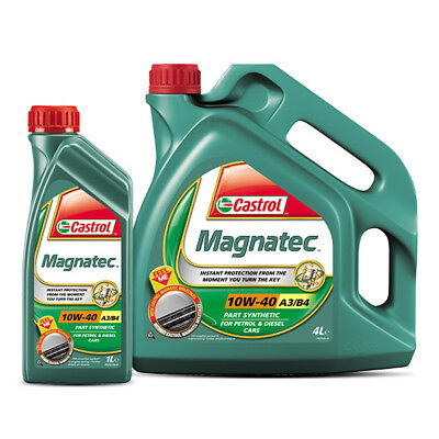 Castrol Magnatec 10w40 Diesel Petrol Part Synthetic Car Engine Oil 4L + 1L = 5 L