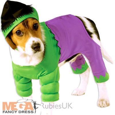Incredible Hulk Dog Fancy Dress Super Hero Comic Book Marvel Pet Animal Costume