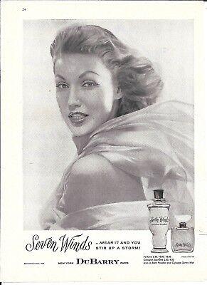 1957 Seven Winds Perfume By DuBarry Ad Beautiful Girl