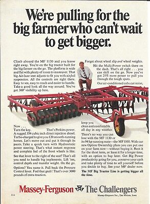 1970 Massey Ferguson The Challengers 1130 Tractor Ad We're Pulling