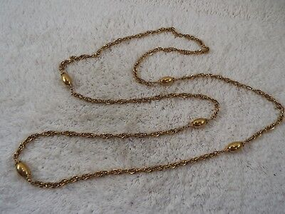 MONET Goldtone Bead Chain Necklace (C68)