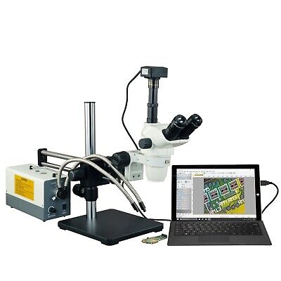 OMAX 2X-270X USB3 18MP Simul-focal Zoom Microscope+Ball-Bearing Boom+150W Light