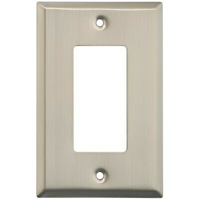 Single GFCI Wall Plate Satin Nickel Pack Of 4