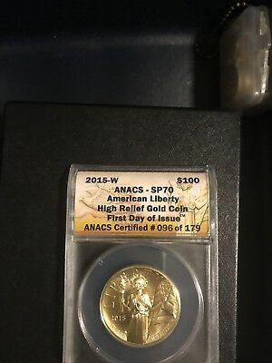 2015-W American Liberty Eagle High Relief $100 One Hundred Gold Coin