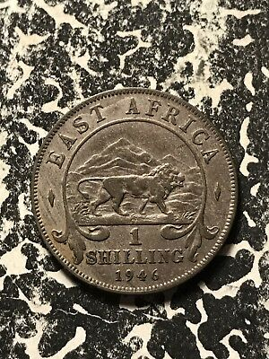 1946 East Africa 1 Shilling Lot#X1162 Silver!