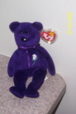PRINCESS BEAR  SPACE IN POEM NO TUSH NUMBER Ty Beanie Baby MINT WITH MINT TAGS