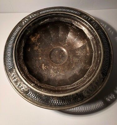 Beautiful Antique Silver Plated Fruit Bowl