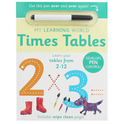 Times Tables - Wipe Clean Workbook (Paperback), Children's Books, Brand New