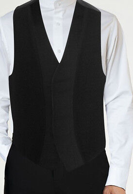 Mens Black Mirage Fullback Vest by Jean Yves Formal Prom Wedding Free Shipping
