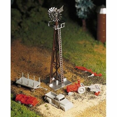 Bachmann 45603 O-Scale Plasticville Windmill with Farm Machinery Kit
