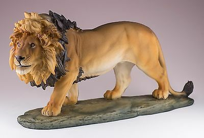 Large Lion Figurine Resin 11 Inches Long New In Box!