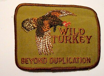 """Wild Turkey Patch Embroidered 4"""" inches  Vintage"""