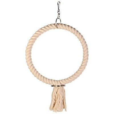 Trixie QUALITY Pure Cotton Bird Cage Rope Swing Round - 3 Sizes