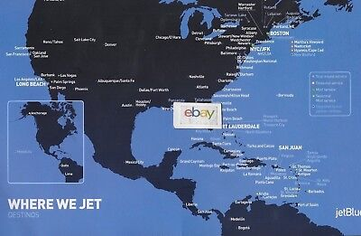 Jetblue 9/10 2017 Service Guide & Menu & Ad's Route Map-Food Mint Cabin