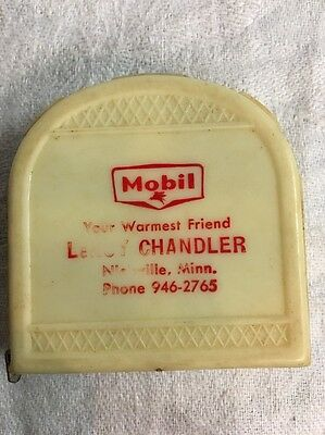 Vintage Mobil Oil gas Leroy Chandler Nielsville MN minn tape measure advertising
