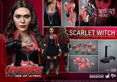 """Hot Toys Avengers Age of Ultron SCARLET WITCH 12"""" Action Figure 1/6 Scale MMS301"""