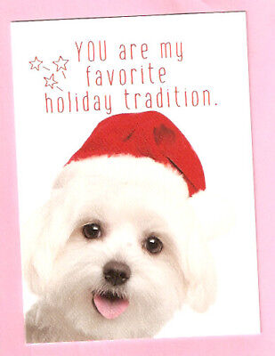 Bichon Friese Santa Hat Tradition Christmas Cards Box of 8