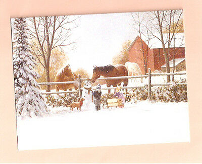 Irish Setter Horse Snowman Christmas Cards by Lang Box 18 cards Look What I Did