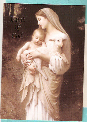 Madonna Jesus Child Lamb of God Mary Fully Decorated Christmas Cards Box of 18